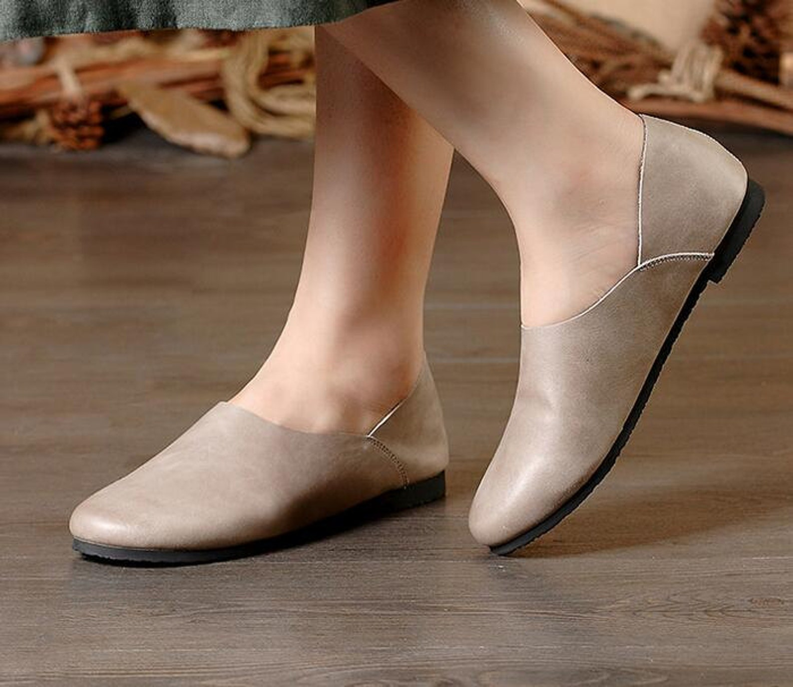 2 colors! handmade soft leather flat shoes,oxford women shoes, flat shoes, slip-ons, loafers, ballet shoes,black shoes, gray sho