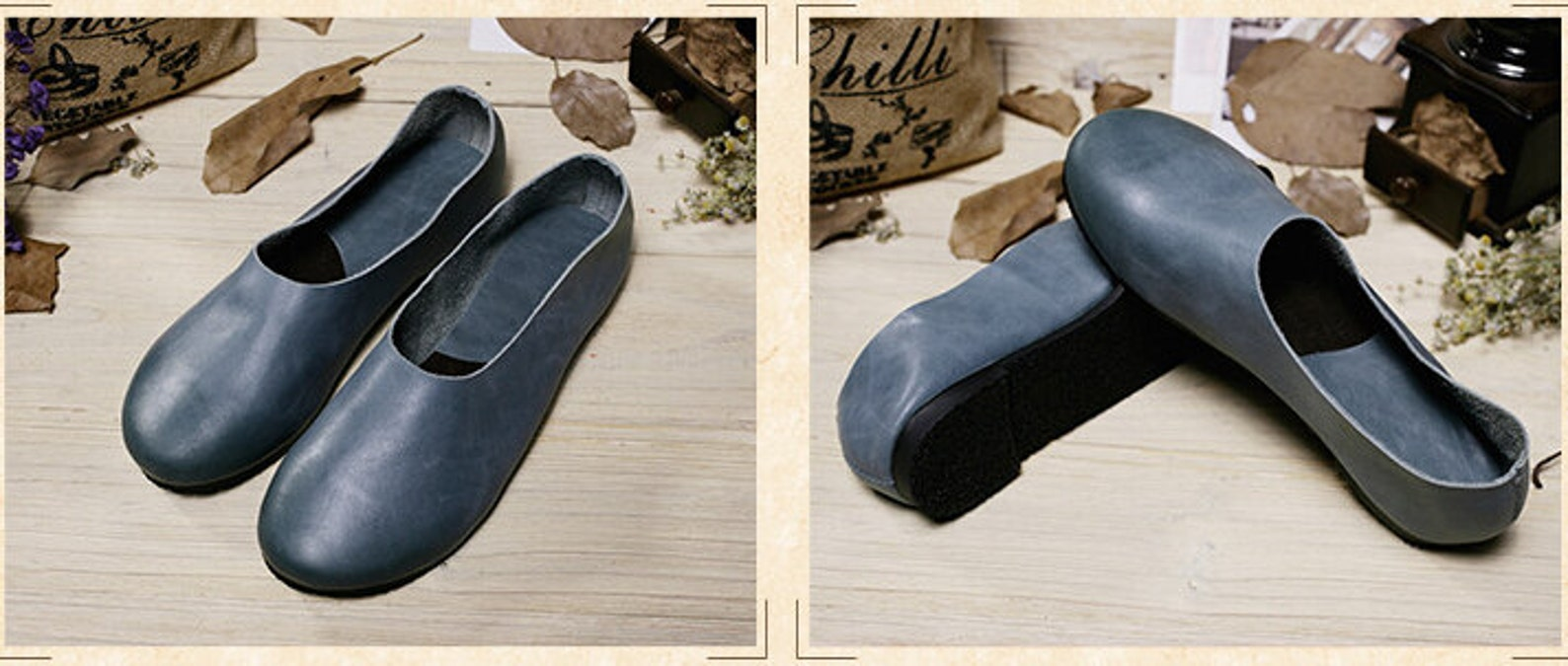 handmade blue soft shoes,oxford women shoes, flat shoes, retro leather shoes, slip-ons, loafers, ballet shoes