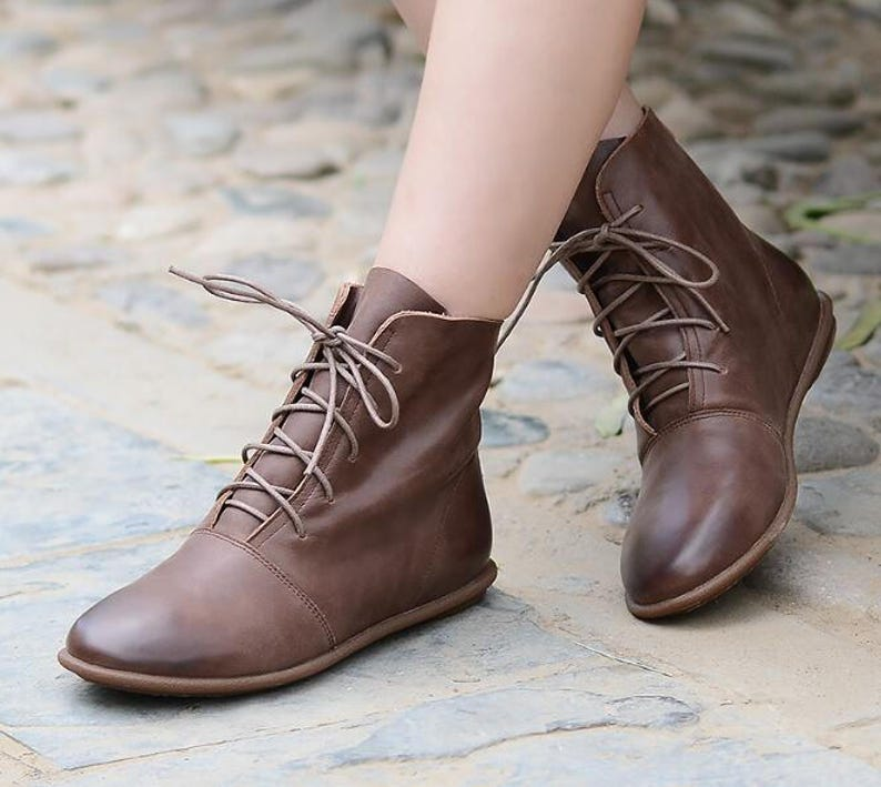 5ddf5be5dda6 Handmade Women Leather ShoesAnkle BootsOxford Women Shoes