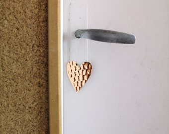 Mini Moon, star, heart, copper or silver cloud or drop - to hang or in wall decoration