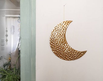 Copper or silver moon - light wall decoration