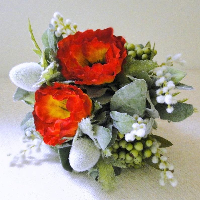 artificial bouquet Wild flower wedding bouquet red flower bouquet bridesmaid flowers bridal flower silk flower poppies wedding flowers