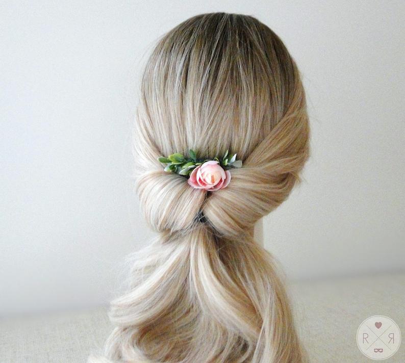 wedding headpiece bridal flower comb wedding hair comb rose hair comb wedding hair piece boho hair accessories Bridal hair piece