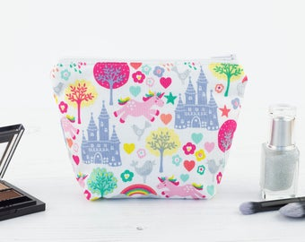 Unicorns and Castles Mini Makeup Bag