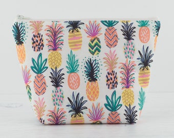Tropical Pineapple Makeup Bag