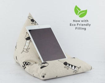 Tablet Pillow - Sausage Dog - Now with ECO Friendly Filling!