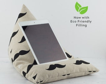 Tablet Pillow - Moustache - Now with ECO Friendly Filling!