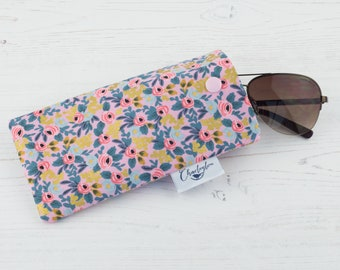 Rifle and Paper Rosebud Glasses Case