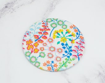 Pocket Mirror - Liberty White Floral