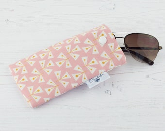 Pink Triangles Glasses Case