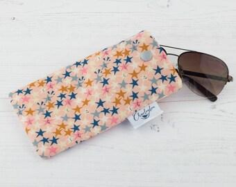 Glasses Case - Peachy Stars - Cotton + Steel