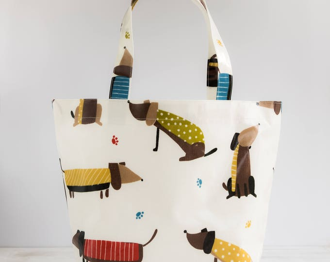 Featured listing image: Oilcloth Tote Bag - Dachshund