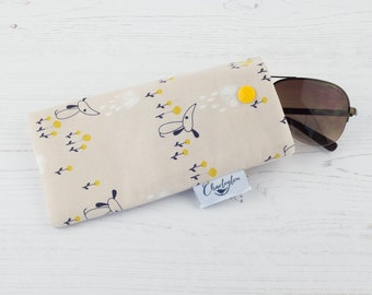 Rain Clouds and Dog Glasses Case
