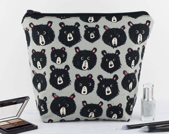 Wash Bag - Grey Bears