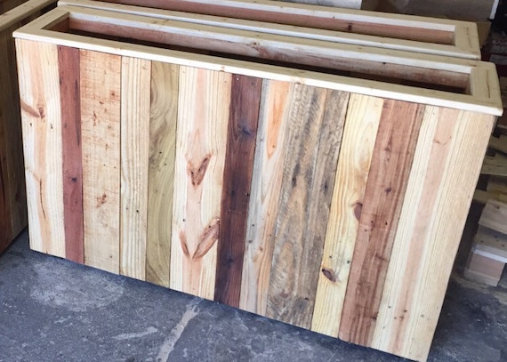 Re-claimed pallet  wood window box//planter