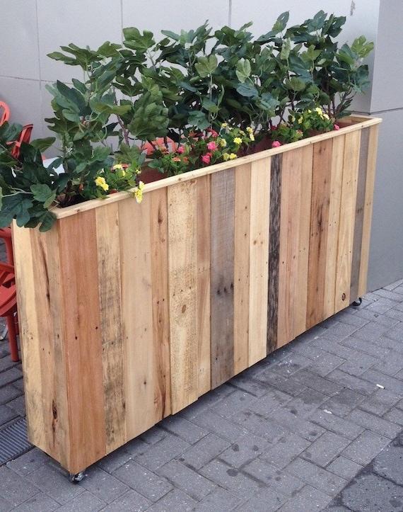 Top Reclaimed Pallet Wood Planter Box DJ03