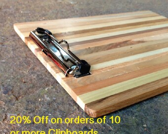 DEAL - 20% Off on 10 Reclaimed Pallet Wood Clipboards