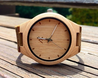 FREE ENGRAVING, Wood Watch, Wooden Watch, Wood Watch for Men, Personalized Watch, Mens Watch, Wedding Gift, Anniversary Gift, Gift for Him