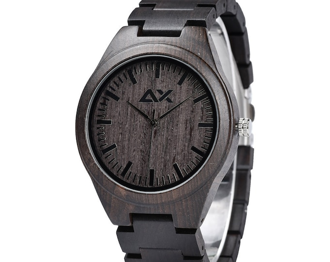 Featured listing image: FREE ENGRAVING, Wooden Watch, Mens Watch, Gift for him, Mens Wooden Watch, Wood Watch for Men, Anniversary Gift, Groomsmen Gift, Wood Watch