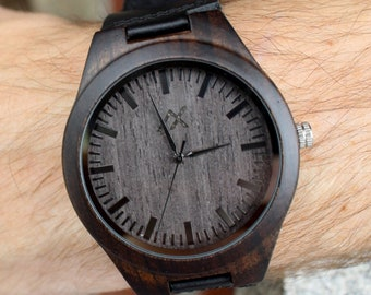 Mens Wood Watch, FREE Engraving, Wooden Watch, Gift for Him, Wood Watch, Personalized Wood Watch, Wedding Gift, Anniversary Gift, Mens Watch
