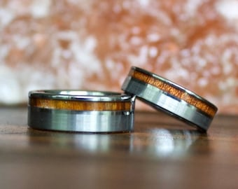 Wood Ring, Tungsten Carbide Ring, Wood Rings, wooden ring, wooden rings, wedding band, Wood rings for men, Koa Wood, Wood Wedding Band