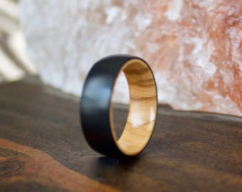Wood Wedding Band, Titanium Band, Mens Wood Ring, wooden ring, wooden rings, wedding band, Wood rings for men, Womens Wood Ring, Wood Band