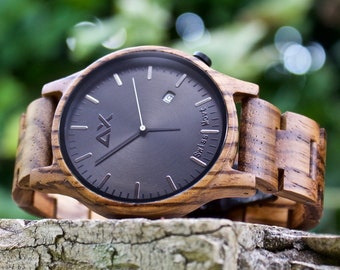 FREE Engraving Wood Watch Wooden Watch Groomsmen Gift Personalized Watch Mens Watch Mens Wrist Watch Groom Gift Anniversary Gift