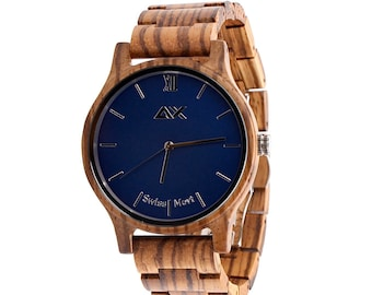 Personalized Wood Watch, Wood Wrist Watch Men, Wooden Watches, Mens Wrist Watch, Groomsmen Gift, Wood Watch Men, Engraved Wood Watch