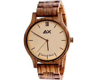 FREE Engraving,  Personalized Wood Watch, Wooden Watch, Wood Watches, Personalized Watch Mens Watch Mens Wrist Watch Wood Watch for Men