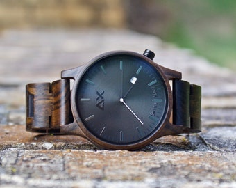 FREE Engraving Wood Watch Wooden Watch Groomsmen Gift Personalized Watch Mens Watch Mens Wrist Watch Wood Watch for Men Mens Wooden Watch