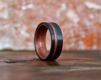 Wood Ring, Tungsten Carbide Ring, Mens Wood Ring, wooden ring, Wood, wooden rings, wedding band, Wood rings for men, Wood Inlay ring, Wood