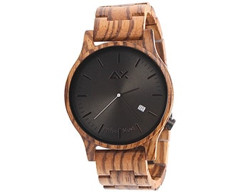 FREE ENGRAVING, Mens Watch, Wooden Watch for Men, Mens Wood Watch, Engraved Wood Watch, Personalized Wood Watch, Engraved Watch, Wrist Watch