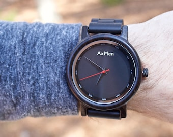 FREE ENGRAVING, Mens Wood Watch, Wooden Watch, Wooden Watch for Men, Gift for Him, Wood Watch, Wedding Gift, Groom Gift, Mens Watch