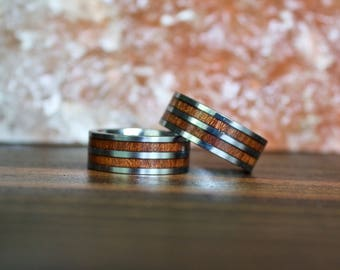 Mens Wood Ring, Wooden Ring, Mens Wooden Ring, Wood ring, Wood rings, Wood Wedding Band, Mens Wedding band, Wood ring for men, Wedding Band