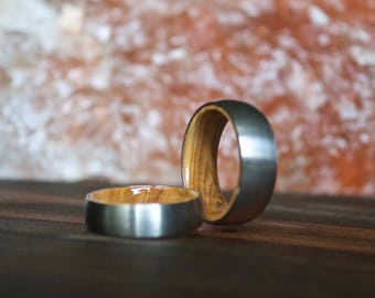 Wood Ring, Titanium Ring, Mens Wood Ring, wooden ring, wooden rings, wedding band, Wood rings for men, Wood Inlay ring, Womens Wood Ring