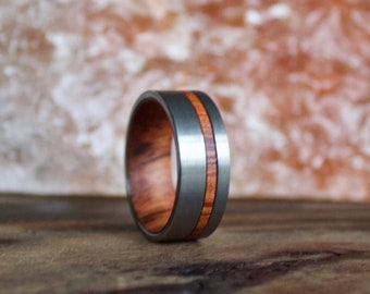 Wood Ring, Tungsten Carbide Ring, Mens Wood Ring, wooden ring, Wood, wooden rings, wedding band, Wood rings for men, Wood Inlay ring