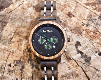 FREE Engraving, Womens Wood Watch, Wood Watch, Wooden Watch, Chronograph Watch, Womens Wooden Watch, Personalized Watch, Womens Watch, Wood