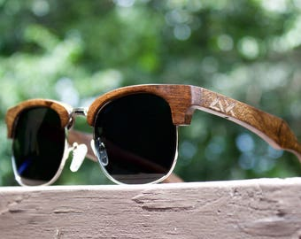 Wood Sunglasses, Ebony Wooden Sunglasses, Mens Sunglasses, Wood Eyewear, Sunglasses, Wood, Custom Engraved Wood Glasses