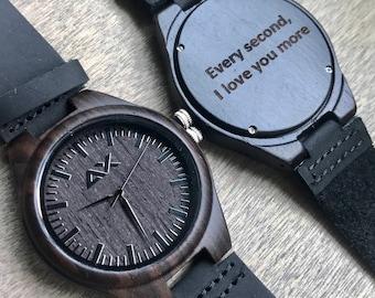 FREE ENGRAVING, Mens Wood Watch, Anniversary Gift, Mens Watch, Wood Watch, Wooden Watch, Wedding Gift, Groomsmen Gift, Wood Watch for Men