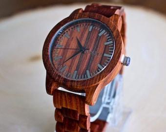 FREE Engraving, Mens Wood Watch, Wood Watch for Men, Wooden Watch, Gift for Him, Wood Watch, Wedding Gift, Mens Watch, Groomsmen Gift, Wood