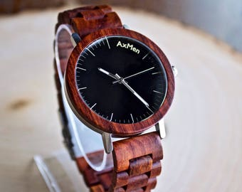 Mens Wood Watch, Wooden Watch, Gift for Him, Mens Wooden Watch, Anniversary Gift, Wedding Gift, Mens Watch, Groomsmen Gift, Groom Gift