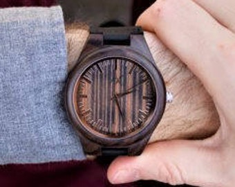 FREE ENGRAVING, Wooden Watch, Gift for Him, Wood Watch, Personalized Watch, Wedding Gift, Groomsmen Gift, Wood Watch Mens, Mens Wood Watch