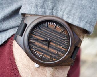 FREE ENGRAVING, Mens Wood Watch, Engraved Wooden Watch, Gift for him, Mens Wooden Watch, Wedding Gift, Anniversary Gift, Groomsmen Gift