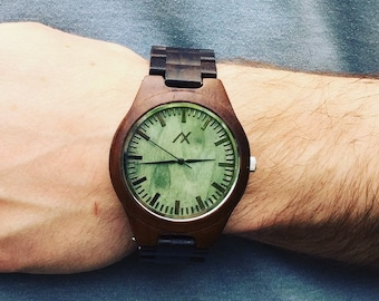 FREE ENGRAVING, Mens Wood Watch With Custom Engraving, Wooden Watch for Him, Gift for Him, Mens Wood Watch, Personalized Wood Watch, Wood