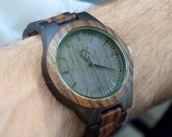 FREE ENGRAVING, Mens Wood Watch, Wooden Watch, Gift for Him, Mens Watch, Engraved Watch, Wedding Gift, Groom Gift, Wood Watch for Men, Wood