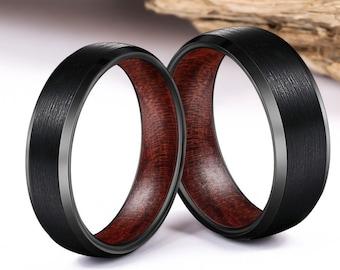 Wood Ring, Wood Wedding Band, Wood Rings, wooden ring, wooden rings, wedding band, Wood rings for men, Wedding Band for Men, Mens Wood Ring