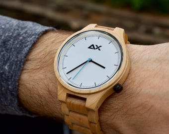 FREE ENGRAVING, Wooden Watch, Engraved Wooden Watch, Gift for him, Gift for Dad, Wedding Gift, Anniversary Gift, Groomsmen Gift, Wood Watch