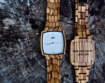 FREE ENGRAVING, Wood Watch, Mens Watch, Mens Wooden Watch, Wooden Watch, Engraved Watch, Watch for Men, Wood Watch for Men, Wood Watches
