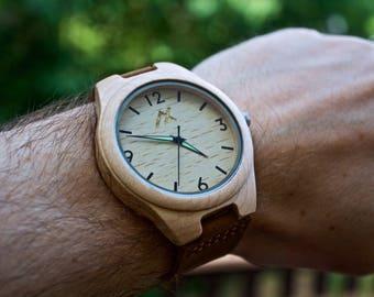 Wood Watch, Groomsmen Gift, Wooden Watch for Men, Personalized Watch, Gift for Him, Wooden Watch, Wedding Gift, Anniversary Gift, 5 Year