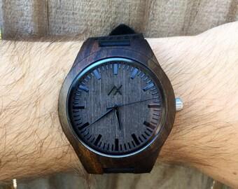 Wood Watch, Minimalist Wood Watch, Engraved Wooden Wrist Watch, Mens Wooden Watch, Gift for him, Anniversary Gift, Groomsmen Gift,